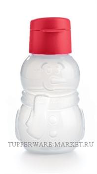 Эко-бутылка Снеговик 350 мл - фото 8895