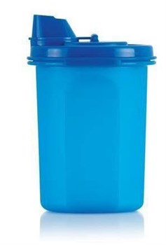 Компактус круглый для масла (400мл) 1шт в синем цвете - фото 10450