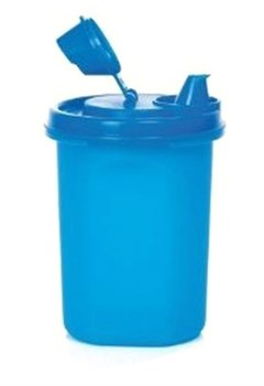 Компактус круглый для масла (400мл) 1шт в синем цвете - фото 10451