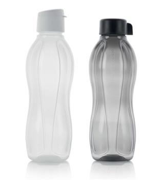 Эко-бутылка (1л) в белом цвете - фото 11283