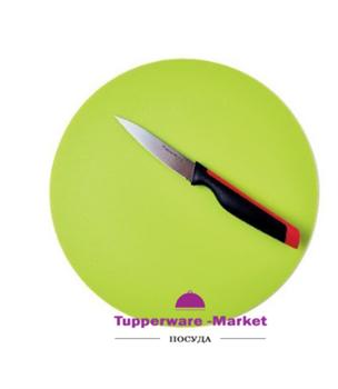 Разделочная доска круглая зелёная - фото 11323