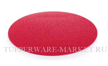 Разделочная доска круглая красная - фото 11372