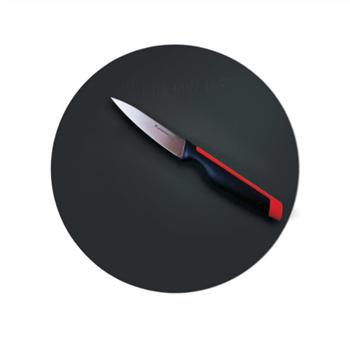 Разделочная доска круглая чёрная - фото 11726