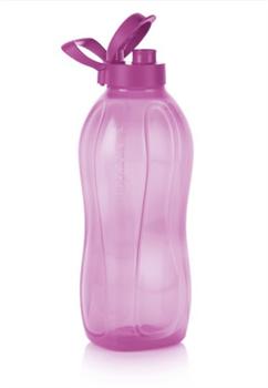 Эко-бутылка (2л) с ручкой сиреневая - фото 11805