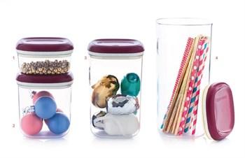 Набор контейнеров Кристалл (240/780/1,3/1,8л) - фото 7763