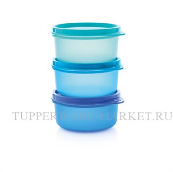 Набор сервировочных чаш (200мл) 3шт. в голубом цвете - фото 8714