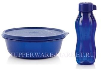 Набор: Хит-парад (600мл), Эко-бутылка (310мл) в синем цвете - фото 8838
