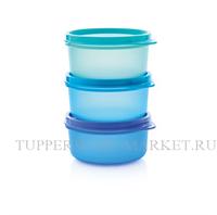 Набор сервировочных чаш (200мл) 3шт. в голубом цвете