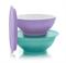 Чаша «Аллегро» (275мл) 2шт сиреневая/бирюзовая - фото 11812