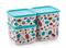 Набор контейнеров кубикс «Рио» (650мл/1/1,8л)  - фото 12208