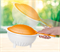 Двойной дуршлаг в оранжевом цвете - фото 12423