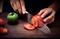 """Нож """"Люкс"""" Сантоку - фото 9331"""